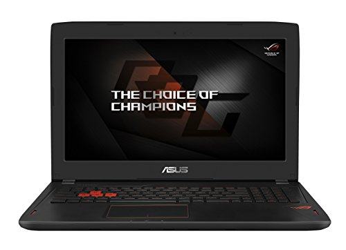 Asus ROG GL502VS-GZ221T 39,6 cm (15,6 Zoll, mattes Full-HD Display) Gaming Notebook (Intel Core i7-7700HQ, 8GB RAM, 256GB SSD, 1TB HDD Festplatte, Nvidia GTX1070 8GB VRAM, Win 10) schwarz