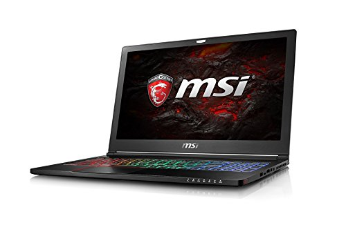 MSI GS63 7RE-023DE Stealth Pro (39,6 cm/15,6 Zoll) Gaming-Notebook (Intel Core i7-7700HQ Kabylake, 16GB RAM, 256GB SSD + 1TB HDD, Nvidia GeForce GTX1050 Ti, Windows 10) schwarz GS63