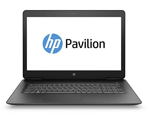 HP Pavilion Notebook 17-ab306ng (17,3 Zoll / Full HD) Laptop (Intel Core i5-7300HQ, 1 TB HDD, 128 GB SSD, 8 GB RAM, Nvidia GeForce GTX 1050 Ti 4GB, DVD-RW, Windows 10 Home) schwarz