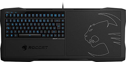 ROCCAT Sova Gaming Lapboard, Tastatur und Mauspad (DE-Layout, Hardpad 275 x 240 mm, 4 m USB-Kabel) schwarz