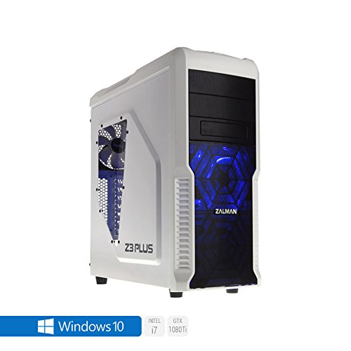 Sedatech Ultimate Gaming PC Intel i7-7700K 4x 4.20GHz (max 4.5Ghz), Geforce GTX 1080Ti 11Gb, 32 GB RAM DDR4 3000Mhz, 500 GB SSD, 3 TB HDD, USB 3.1, Wlan, Kartenleser, HDMI2.0, 4K Grafik Aulösung, DirectX 12, VR Ready, 80+ Netzteil. Rechner mit Windows 10 64 Bit