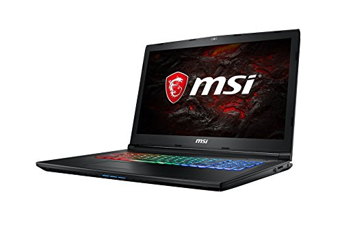 MSI GP72MVR 7RFX-631DE Leopard Pro (43,9 cm/17,3 Zoll) Gaming-Notebook (Intel Core i7-7700HQ, 16GB RAM, 256 GB SSD +  1 TB HDD, Nvidia GeForce GTX 1060, Windows 10 Home) schwarz GP72