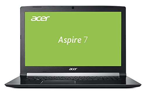 Acer Aspire 7 A717-71G-721V 43,9 cm (17,3 Zoll Full-HD IPS matt) Gaming Notebook (Intel Core i7-7700HQ, 16GB RAM, 512GB PCIe SSD, NVIDIA GeForce GTX 1060 (6GB VRAM), Win 10 Home) schwarz