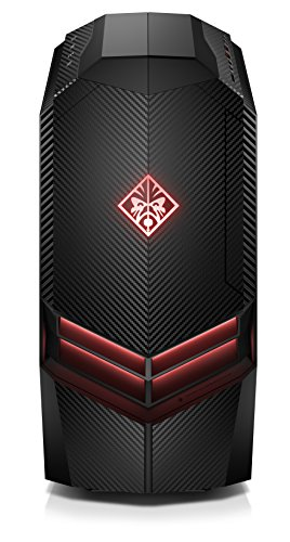 HP Omen 880-063ng Gaming Desktop PC (Intel Core i7-7700K, 16GB RAM, 1TB HDD, 256GB SSD, AMD Radeon RX 580, Windows 10 Home 64) schwarz