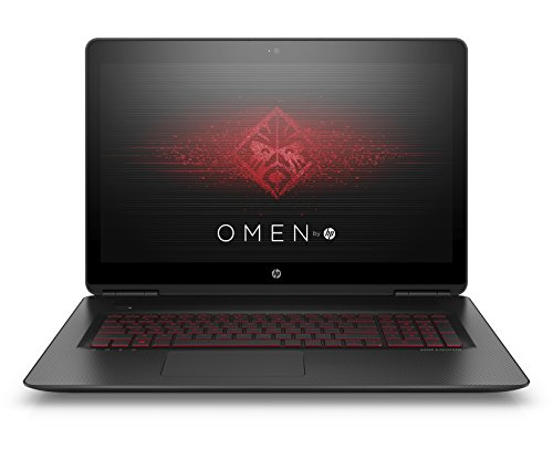 HP Omen 17-w222ng 43,9 cm (17,3 Zoll) Laptop (Intel Core i7-7700HQ, 8 GB RAM, 1 TB HDD, 256 GB SSD, NVIDIA GeForce GTX 1050 Ti, Windows 10 Home 64) schwarz