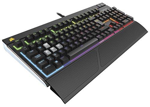 Corsair STRAFE RGB Mechanische Gaming Tastatur (Cherry MX Red, Multi-Color RGB Beleuchtung, QWERTZ) schwarz