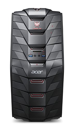 Acer Predator G3-710 Gaming Desktop-PC (Intel Core i5-7400, 16GB RAM, 128GB SSD, 1.000GB HDD, GeForce GTX 1050 Ti (4GB VRAM), Win 10) schwarz