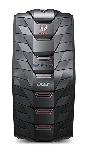 Acer Predator G3-710 Gaming Desktop-PC (Intel Core i5-7400, 16GB RAM, 128GB SSD, 1.000GB HDD, GeForce GTX 1050 Ti (4GB VRAM), Win 10) schwarz