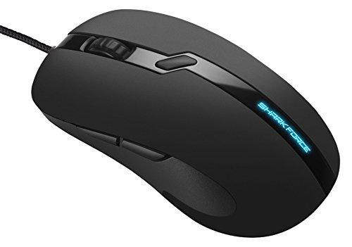 Sharkoon Shark Force Pro Gaming Maus (3200 DPI, LED beleuchtete Unterseite, ergonomisches Design) schwarz