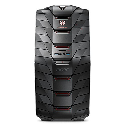 Acer Predator G6-710 Gaming Desktop PC (Intel Core i7-7700K, 32GB RAM, 512GB PCIe SSD, 3.000GB HDD, GeForce GTX 1080Ti (11GB VRAM), DVD, Win 10) schwarz