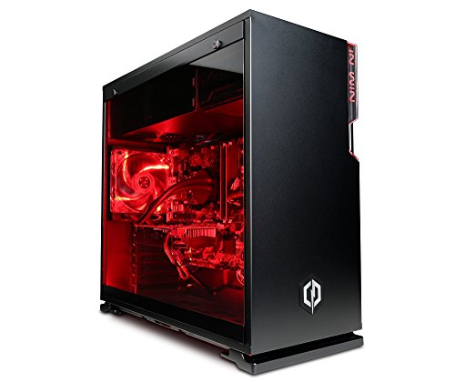 Cyberpower Centurion i7-1080Ti Gaming PC - Intel i7 7700K 4.6GHZ OC, Nvidia GTX 1080Ti 11GB, 32GB RAM, 240GB SSD, 2TB HDD, Liquid Cooling, 600W 80 plus PSU, PCI-E Wifi, Win 10, Inwin 101