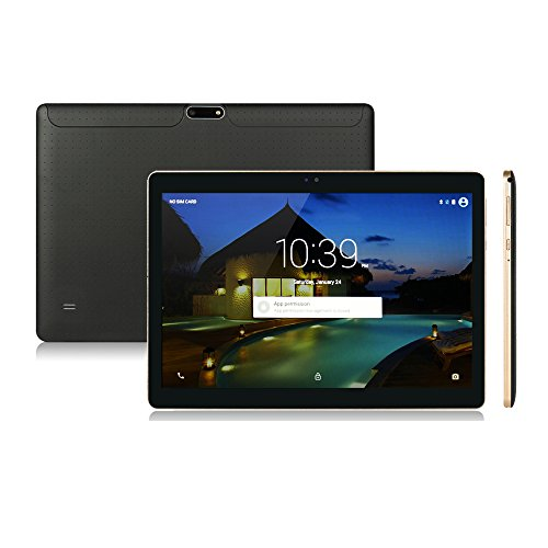Anteck 10.1 Zoll Android 5.1 Lollipop IPS Tablet PC 3G Handy Anruf Phablet 16GB Quad Core Kamera Bluetooth GPS Kapazitiver Touchscreen WiFi