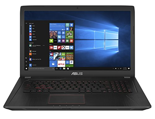 Asus FX753VE-GC108T 43,9 cm (17,3 Zoll mattes Full HD) Gaming Notebook (Intel Core i7-7700HQ, 16GB RAM, 128GB SSD, 1TB HDD, NVIDIA GTX1050Ti, Win10 Home) schwarz