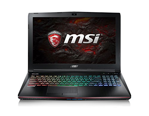 MSI Gaming GE62 7RD(Apache)-075 2.8GHz i7-7700HQ 15.6Zoll 1920 x 1080Pixel Schwarz Notebook, 0016J9-075