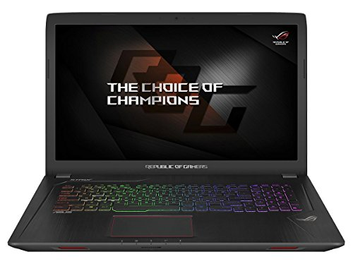 Asus ROG GL753VD-GC337T 43,9 cm (17,3 Zoll mattes FHD) Gaming-Notebook (Intel Core i5-7300HQ, 16GB RAM, 128GB SSD, 1TB HDD, NVIDIA GeForce GTX1050, DVD-Laufwerk, Win 10 Home) schwarz