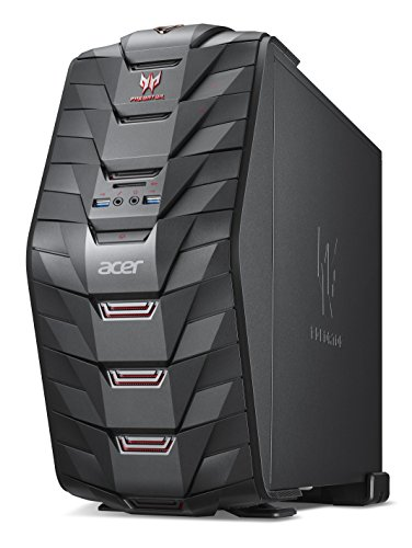 Acer Predator G3-710 Gaming Desktop-PC (Intel Core i5-7400, 8GB RAM, 128GB SSD, 1.000GB HDD, GeForce GTX 1050 (2GB VRAM), Win 10) schwarz