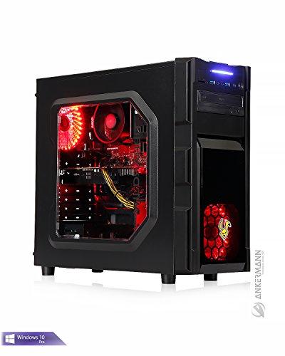 Ankermann-PC Gamer PC 24 Monate Garantie, Ryzen 5 1600 6x 3,20GHz Turbo 6x3,60Ghz, GeForce GTX 1050 Ti 4GB, 16GB RAM, 240GB SSD, Windows 10 Pro, EAN 4260561740104