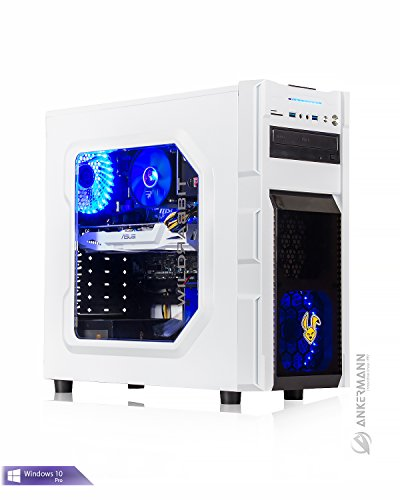 Ankermann-PC Gaming Pc Multimedia VR Ready WildRabbit GTX, Intel Core i7 7700 4x3,60 KabyLake, GeForce GTX 1060 6GB, 8GB RAM, 240GB SSD, Windows 10 Pro, Flüsterleise, Cardreader 7in1, EAN 4260409319271