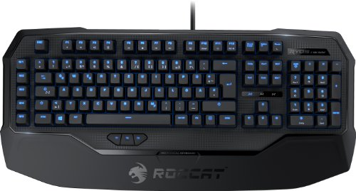 Roccat Ryos MK Glow Illuminated Mechanische Gaming Tastatur (DE-Layout, Mechanische Tasten, MX Key Switch schwarz)