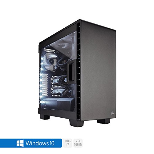 Sedatech Ultimate Gaming PC Intel i7-8700K 6x 3.70Ghz (max 4.7Ghz), Geforce GTX1080Ti 11Gb, 64Gb RAM DDR4 3000Mhz, 1Tb SSD, 3Tb HDD, USB 3.1, HDMI2.0, 4K resolution, DirectX 12, VR Ready, 80+ PSU. Desktop Computer with Windows 10 64 Bit