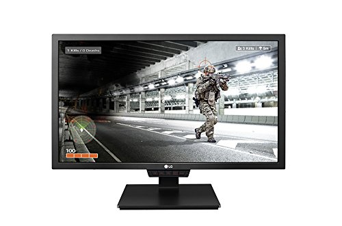 LG IT Products 24GM79G-B 60,96 cm (24 Zoll) Gaming Monitor (FullHD 16:9 DP/HDMI/USB, 1ms Reaktionszeit, Pivot, LED) schwarz