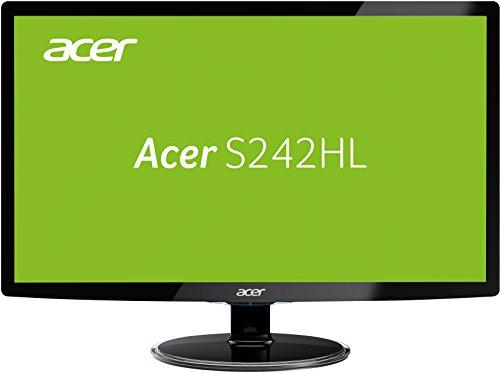 Acer S242HLDBID 60,1 cm (24 Zoll) Monitor (VGA, DVI, HDMI, 1ms Reaktionszeit) schwarz