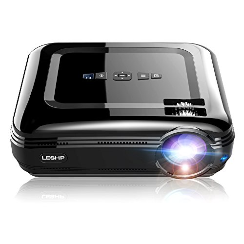 Beamer, OCDAY 1080p FHD Video LCD LED Projektor 3200 Lumen Theaterfilm Efficiency Backyard Outdoor Support Laptop Xbox VGA USB Speaker HDMI für Heimkino TV Laptop Gaming SD