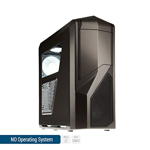 Sedatech Ultimate Gaming PC Intel i7-7700K 4x 4.20Ghz (max 4.5Ghz), Geforce GTX1080Ti 11Gb, 64Gb RAM DDR4 3000Mhz, 1Tb SSD, 3Tb HDD, USB 3.1, HDMI2.0, 4K resolution, DirectX 12, VR Ready, 80+ PSU. Desktop Computer without OS