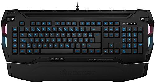 ROCCAT Skeltr Smart Communication RGB Gaming Tastatur (DE Layout, Bluetooth für Mobilgeräte, Docking-Slot) schwarz