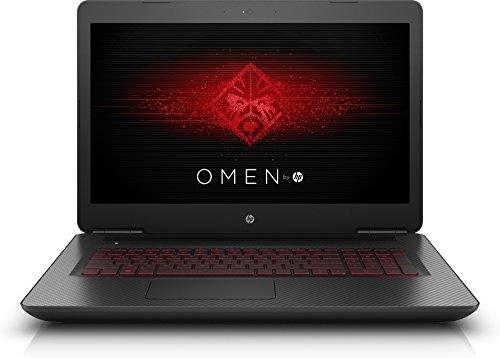 OMEN by HP (17-w213ng) 43,9 cm (17,3 Zoll / 4K IPS) Gaming Notebook (Intel Core i7-7700HQ, 16 GB RAM, 1 TB HDD, 512 GB SSD, NVIDIA GeForce GTX 1070, Windows 10 Home 64) schwarz mit Carbon-Optik