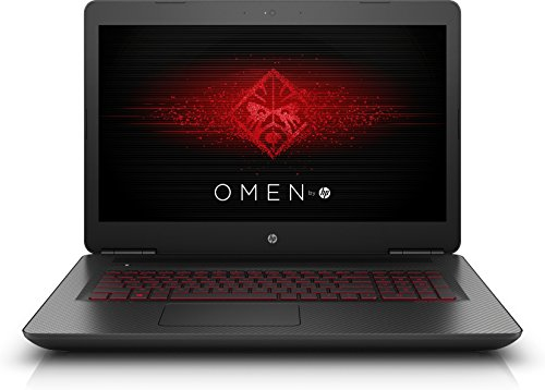 OMEN by HP (17-w207ng) 43,9 cm (17,3 Zoll / 4K IPS) Gaming Notebook (Intel Core i7-7700HQ, 16 GB RAM, 1 TB HDD, 256 GB SSD, NVIDIA GeForce GTX 1050 Ti, Windows 10 Home 64) schwarz mit Carbon-Optik