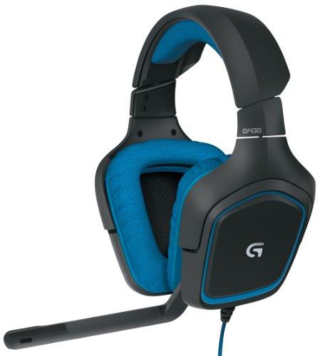 Logitech G430 Gaming Headset 3.5 mm Circumaural blau und schwarz