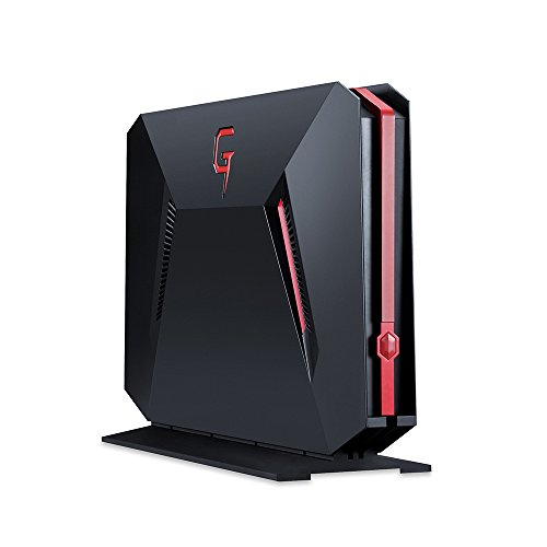 Bben GB01 Mini Gaming PC Box-Perfekt für Sieger (Intel Core i7-7700HQ, 8GB RAM+128GB SSD+1TB HDD, Nvidia GTX 1060 6 GB Grafikkarte) Schwarz-Rot