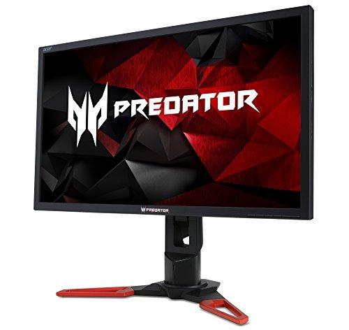 Acer Predator XB1 XB271H 68.6 cm (27 Zoll) Monitor (HDMI, USB 3.0, 1ms Reaktionszeit, 1920 x 1080, Pivot, Nvidia G-Sync) schwarz/rot