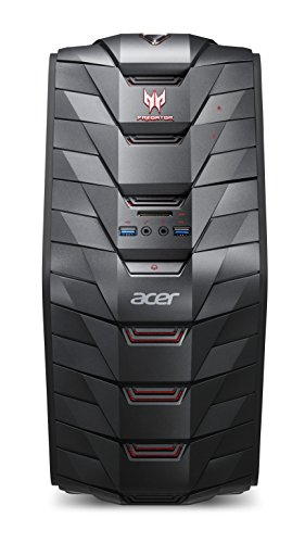 Acer Predator G3-710 Gaming Desktop-PC (Intel Core i5-7400, 16GB RAM, 128GB SSD, 1.000GB HDD, GeForce GTX 1060 (6GB VRAM), Win 10) schwarz