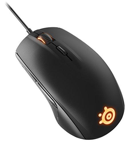 SteelSeries Rival 100, Optische Gaming-Maus, RGB-Beleuchtung, 6 Tasten, Farbe schwarz