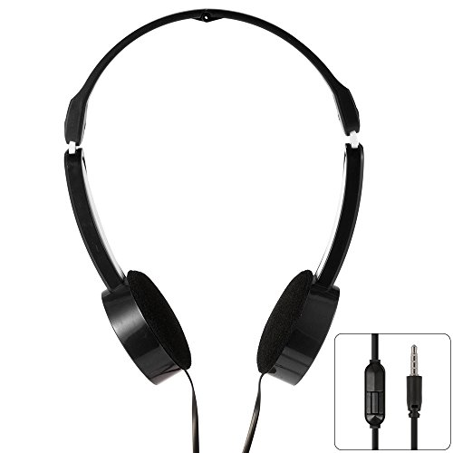 XCSOURCE 3.5mm Universal faltbar skalierbare Line Control MP3-Musik-Headsets Kinder Kinder Over-Ear-Kopfhörer Schwarz TH338
