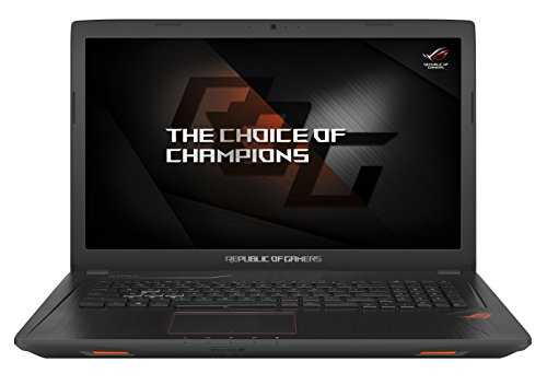 Asus ROG GL753VD-GC044T 43,9 cm (17,3 Zoll mattes FHD) Gaming-Notebook (Intel Core i7-7700HQ, 8GB RAM, 256GB SSD, 1TB HDD, NVIDIA GeForce GTX 1050, DVD-Laufwerk, Win 10 Home) schwarz
