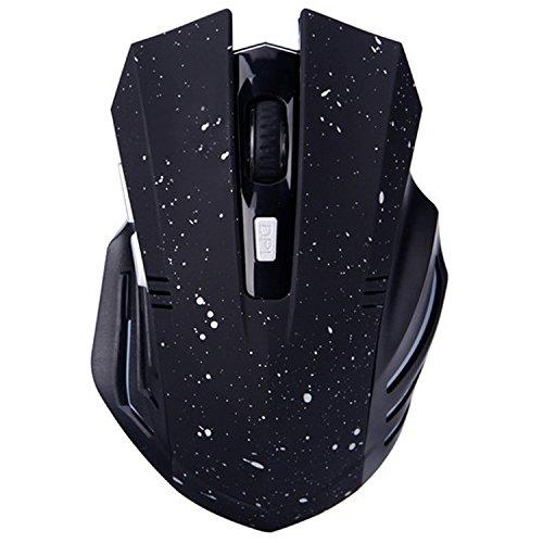 Bluetooth Silent Wiederaufladbare Gaming Mouse - Tsmine Geräuschlos und leise Klicken Sie auf Wireless Gaming Laptop Tablet Ergonomische Mäuse mit 6 Tasten, 3 einstellbare DPI - Schneewittchen