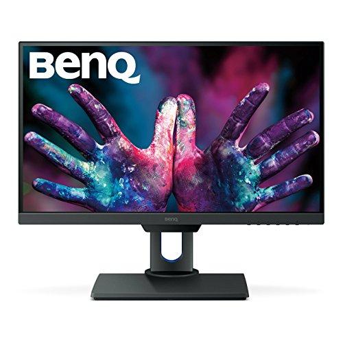 BenQ PD2500Q 63,5 cm (25 Zoll) 2K Designer-Monitor (2560x1440 Pixel QHD, 100% Rec.709 und sRGB, werkseitig kalibriert, ultra-schlankes Blendendesign, höhenverstellbar, flimmerfrei, Anti Glare, HDMI)