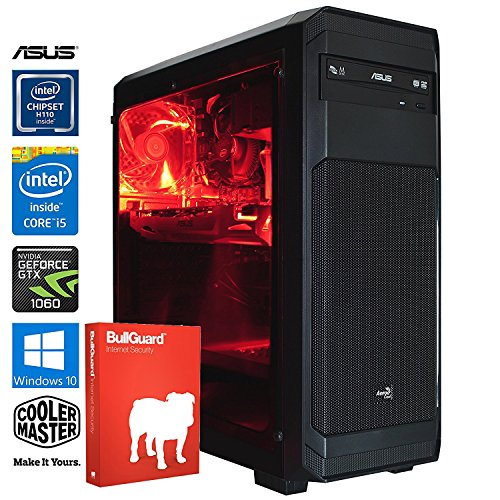 SNOGARD Gamer PC | Intel Core i5-7600, 3GB Nvidia Geforce GTX1060, 8GB DDR4 RAM, 240GB SSD + 1TB HDD + CD/DVD-Rewriter | Gaming-PC Komplett System | Custom Desktop Kaby Lake PC Gaming Computer | Spiele-PC