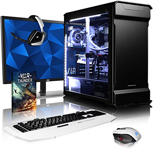 VIBOX Gaming PC - Luminos GXR780-239 Package - 4.0GHz i7 10-Core CPU, GTX 1080 GPU, VR Ready, Water Cooled, Desktop Computer with Game Bundle, 28