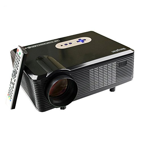 3000 Lumen LED Beamer, Mengshen® 1280 x 800P Full HD Multimedia Mini Portable LCD Projektor 1080P für Heimkino Kino Movie Night Video TV Gaming Training Business Education MS-CL720Black