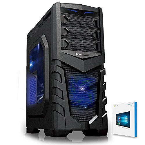 Fierce Demon Quad Core Gaming PC - 3.8GHz AMD 16GB 1600MHz High-Spec RAM 1TB Hard Drive - Desktop, Office, School, College, Uni Computer - 211182 (Windows 10 Home, Vanquish Blue - 211423)