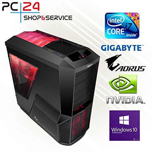 PC24 GAMER PC | INTEL i7-8700K @6x4,50GHz Coffee Lake | nVidia GF GTX 1070 mit 8GB RAM | 16GB DDR4 PC2133 RAM G.Skill | Gigabyte Z370 AORUS Ultra Gaming Mainboard | Windows 10 Pro | i7 Gaming PC