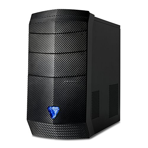 Medion Erazer P7734 D Gaming Desktop-PC (AMD Ryzen 7 1700, 16GB DDR4 RAM, 2TB HDD, 256GB PCIe SSD, Nvidia GeForce GTX 1050 Ti 4GB GDDR5, Win 10 Home) schwarz