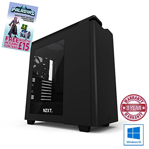 ADMI GTX 1080 GAMING PC VR Ready Gaming Desktop Computer: Intel Core i7 7700K Kabylake Quad Core Overclocked 4.8GHz Turbo CPU / Corsair H45 Liquid CPU Cooler / NVIDIA GeForce GTX 1080 8GB GDDR5 Graphics Card / 16GB 3200MHz DDR4 RAM / Z270X Ultra Gaming Motherboard / 240GB Solid State Drive / 650W PSU Bronze Rated / HD Audio / USB 3.0 / HDMI/4K Ultra HD Support / VR / Oculus Support / NZXT H440 2015 Matte Black Gaming Case / Pre-Installed with Windows 10