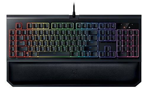 Razer Blackwidow Chroma V2 Taktile und Leise Mechanische Gaming Tastatur (Razer Orange Switches, RGB Beleuchtet und voll programmbierbar mit 5 Macrotasten)