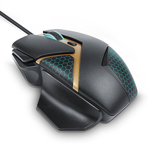 CSL - 4000 dpi Fusion Gaming Mouse | optische USB Gaming Maus | 4000 dpi Abtastrate / High Precision | ergonomisches Design | PC / MAC | schwarz