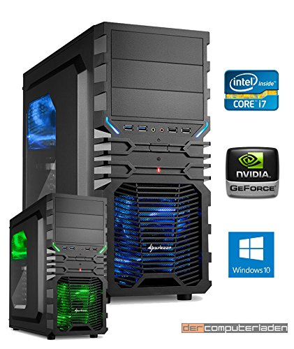 Gamer PC System Intel, i7-7700K (Kaby Lake) 4x4,2 GHz, 16GB DDR4 RAM, 1000GB HDD, nVidia GTX1080Ti -11GB, inkl. Windows 10 (inkl. Installation) Gaming Computer Büro Multimedia dercomputerladen